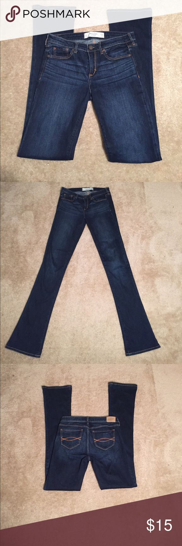 Abercrombie and Fitch denim jeans size 26W/35L Dark wash Abercrombie and Fitch skinny boot dark blue jean. Abercrombie & Fitch Jeans Skinny