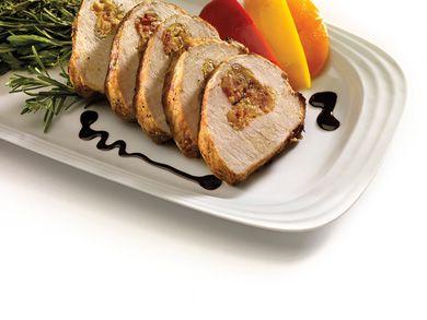 Cheddar and Apple Stuffed Pork Loin  #homehardware #recipe #food #yum #pork #fall