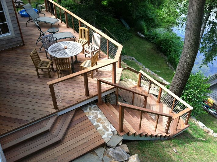 29 Best Images About Tiered Deck Ideas For Cottage On
