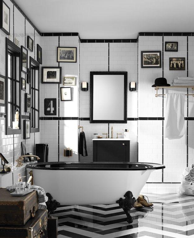 "Eclectic Full Bathroom with Flush, Flat panel cabinets, herringbone tile floors, Kohler K-72571 Artifacts 8"" Towel Ring"