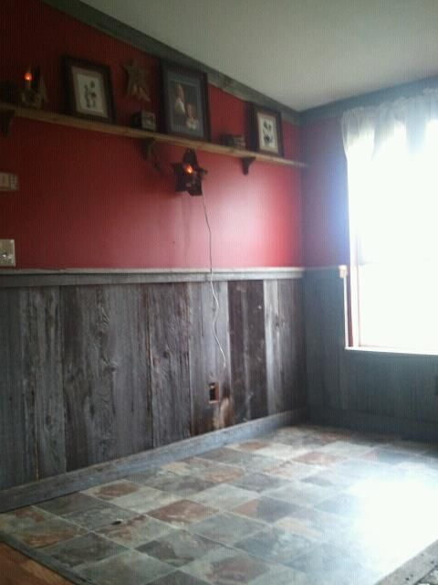 Barnwood room. Just redid my living room and this was how we did the back half of the room.