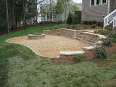 image result for how to build a fire pit on sloped ground - Versunkene Feuerstellen Ideen
