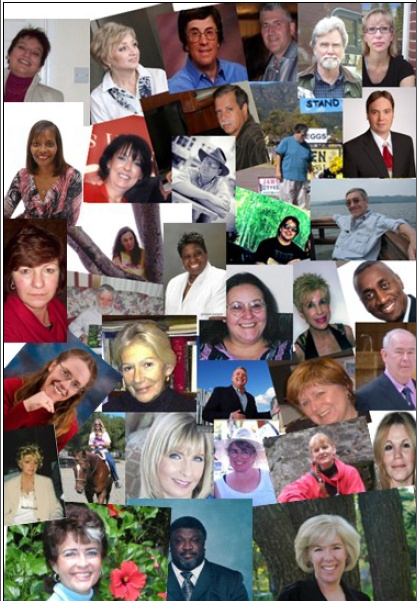 The most current collage of my internet marketing group members.