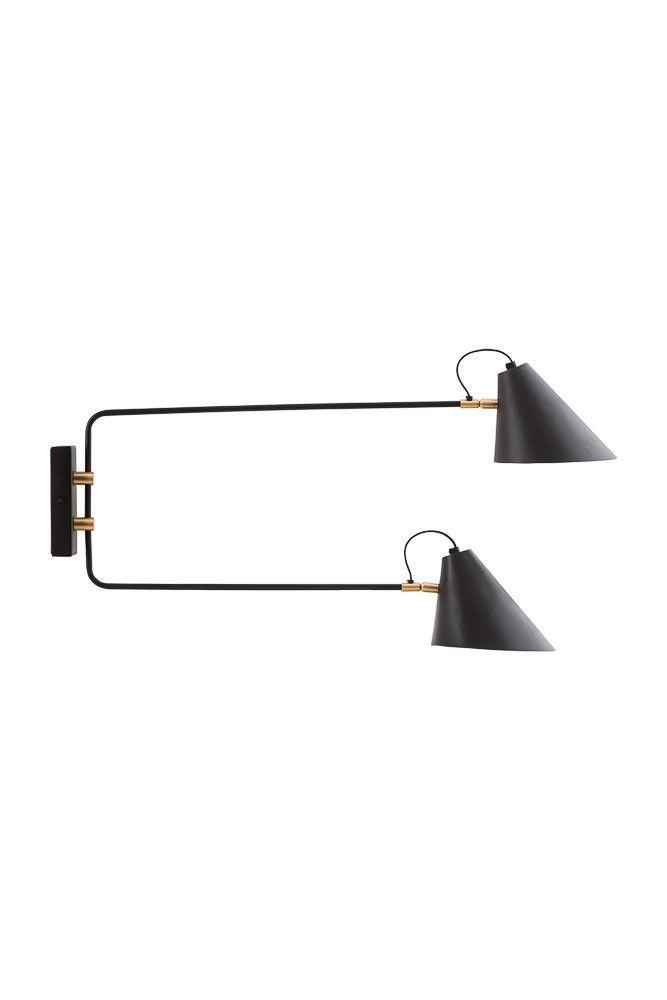 Game væglampe lige i sort/hvid fås billigt her | bekko.dk
