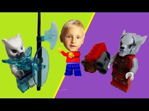 LEGO legends of CHIMA minifigures: Worriz and Iceklaw. Blue Orange