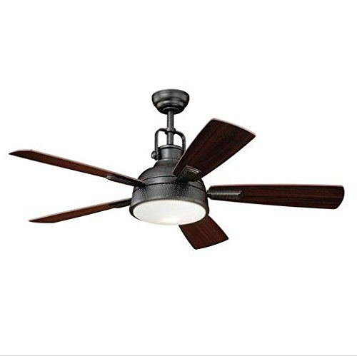 Turn of the Century Lafitte 52 In. Gold Stone Ceiling Fan Modern Industrial Light Remote Control - - Amazon.com