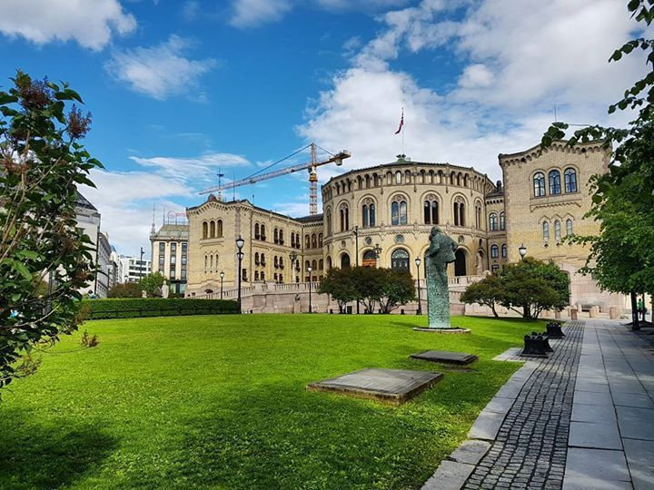 The Norwegian Parliament #stortinget #Oslo #Norway http://ift.tt/2rvNLlj