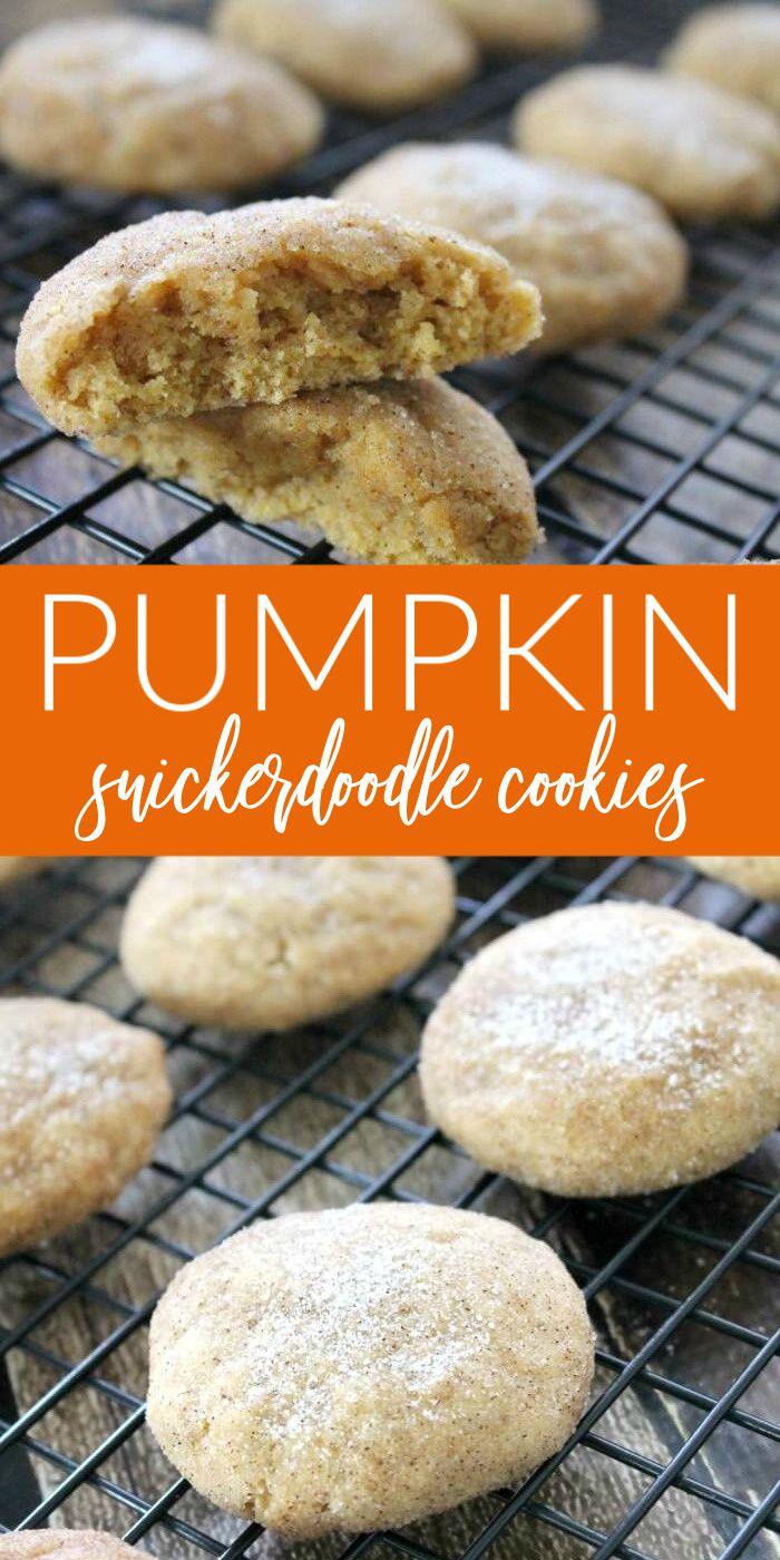 Kürbis Snicker-Doodle Cookies
