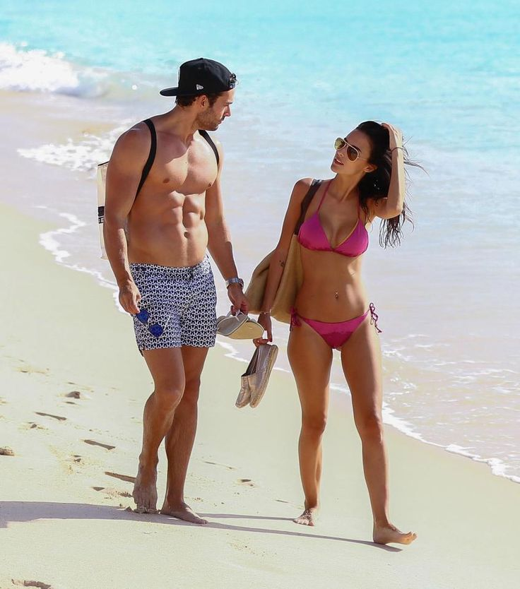 Lucy Watson enjoying beach time in Barbados with boyfriend James Dunmore