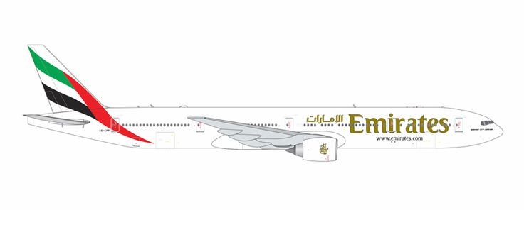 1/400 GeminiJets Emirates Airline Boeing 777-300ER Diecast Model