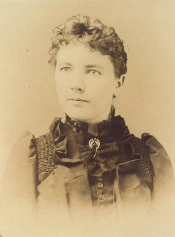 Laura Ingalls Wilder in 1891, five years after the birth of her daughter Rose and two years after the death of her infant son, loss of house to fire, and crop failure from drought.