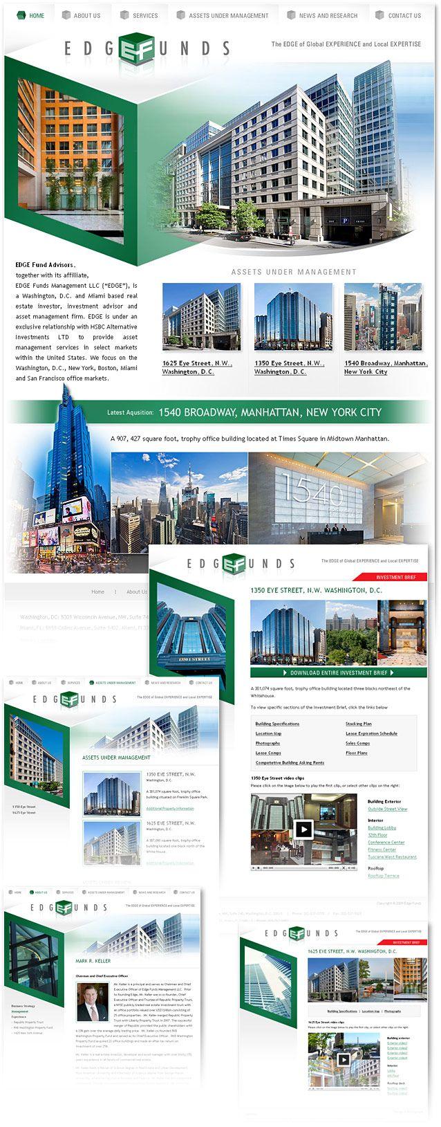 Real estate investment firm New York website design