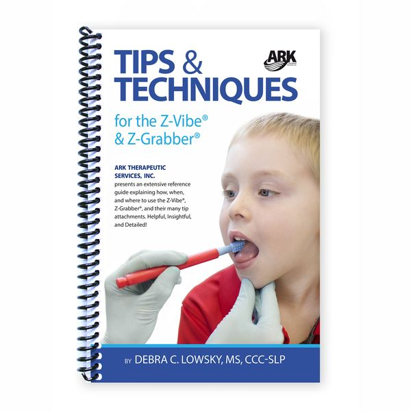 How, when, and where to use the Z-Vibe to improve oral motor, speech, & feeding skills|||Written by Debra C. Lowsky, MS, CCC-SLP, the speech-language pathologist behind all of ARK's products, this boo