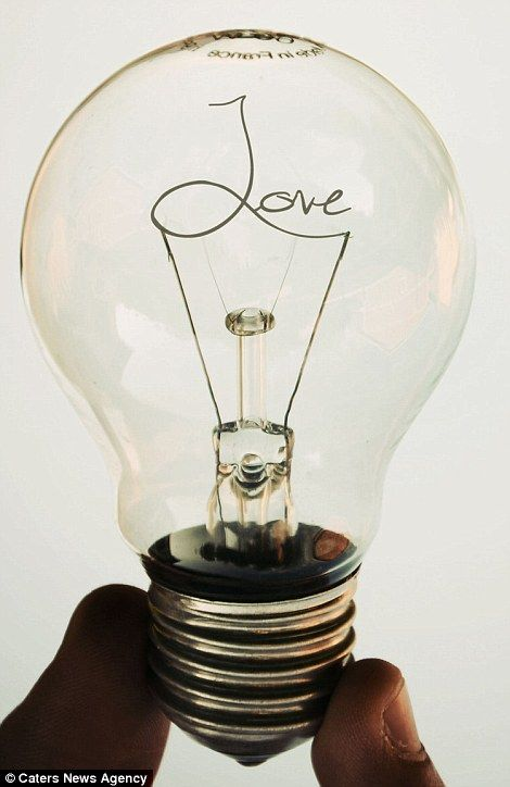 Incredible light bulb created by photographer Adrian Limani, 21, from Presevo, Serbia