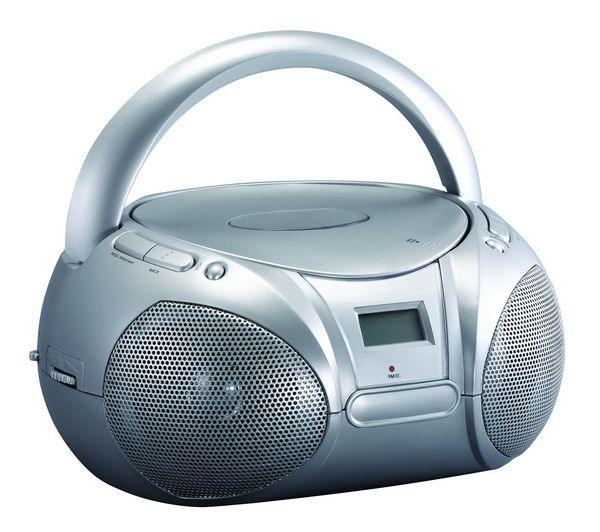 Buy ESSENTIALS CCDBOOM13 Portable Stereo - Silver | Free Delivery | Currys