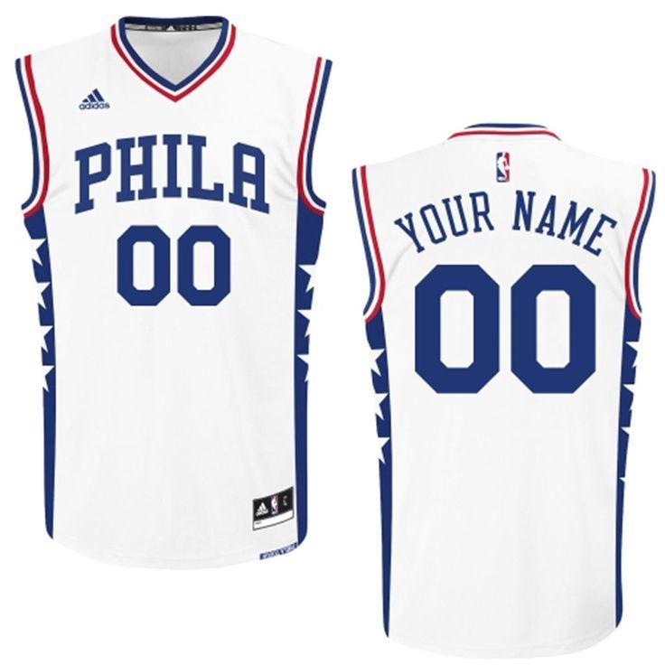 546a39177 ... 50% off mens adidas white philadelphia 76ers 2015 custom replica home  jersey 123f1 3a316 ...