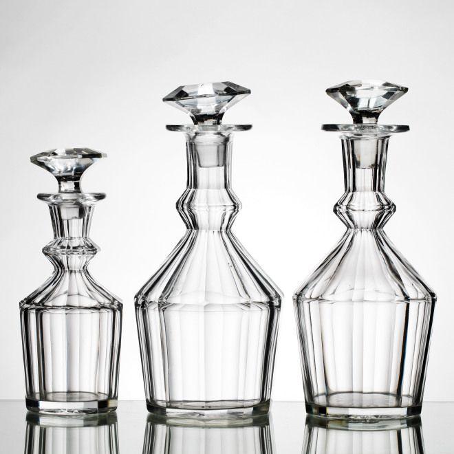 295124. KARAFFER, 3 st, glas, 1800-tal.