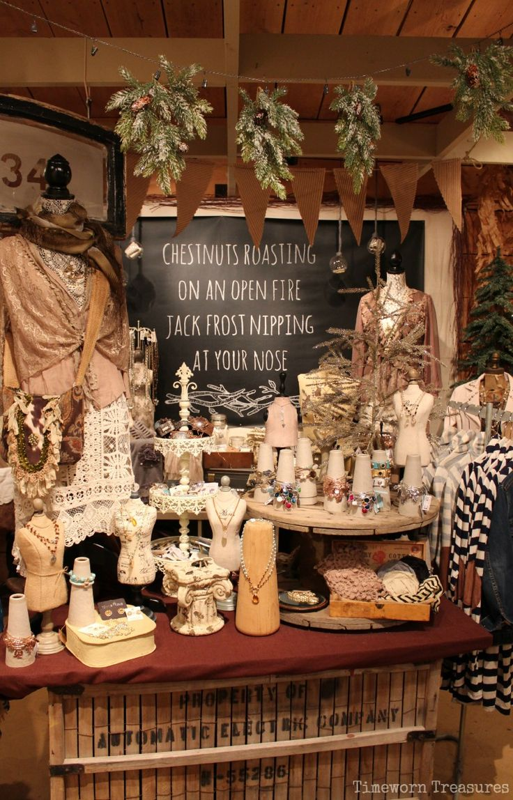 Christmas at the farm 2014 our shop timeworn treasures for Retail shop display ideas
