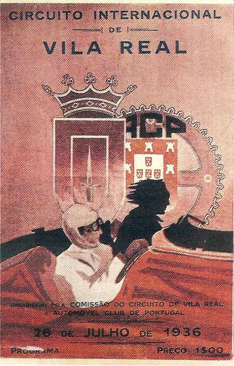 Cartaz do Circuito Internacional de Vila Real de 1936