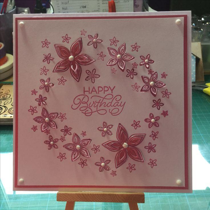 Birthday card make with Chloe stamp and die set