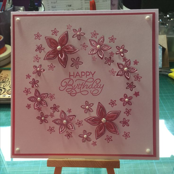 Birthday card make with Chloe stamp and die set