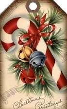 12 HANG/GIFT TAGS VINTAGE CHRISTMAS SCRAPBOOK IMAGES (811-B)