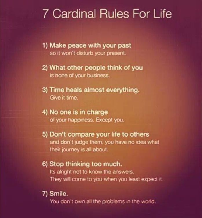 7 Rules Of Life Quote: 7 Cardinal Rules For Life