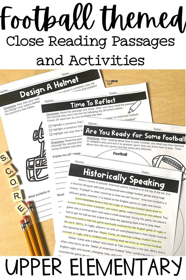 Football Reading Comprehension And Questions Close Reading Reading Comprehension Reading Comprehension Strategies Reading Comprehension Passages [ 1104 x 736 Pixel ]