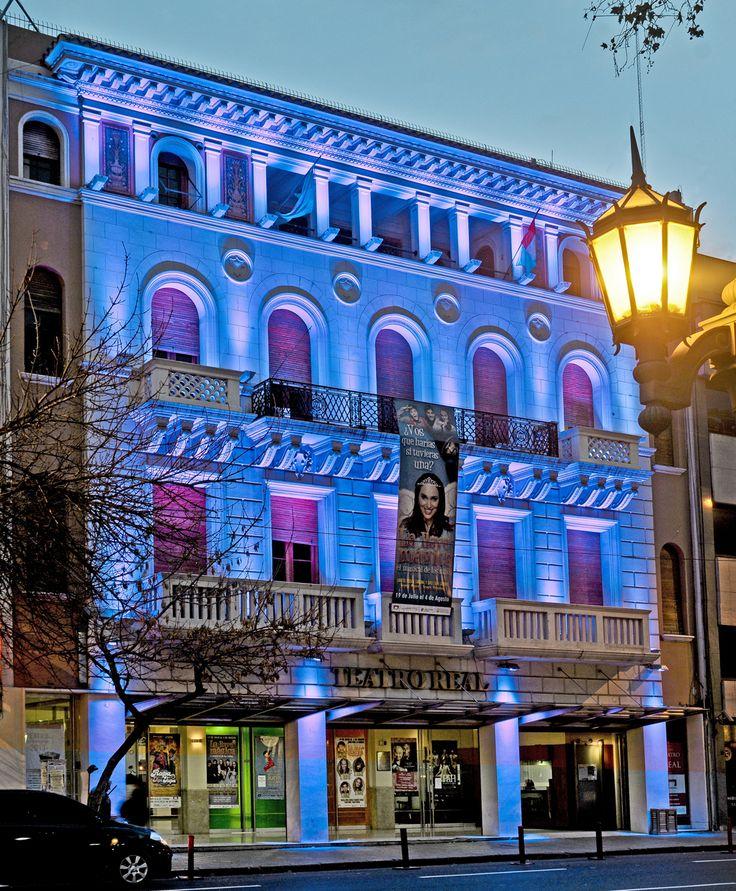 El Teatro Real, ubicado en San Jerónimo 66, de la ciudad de Córdoba, es un espacio abierto a la diversidad de manifestaciones artísticas, atento a la inclusión, fomentando el desarrollo de las artes escénicas y fortaleciendo el vínculo entre artistas y espectadores. +info: http://www.cba.gov.ar/cordoba-cultura/teatro-real/