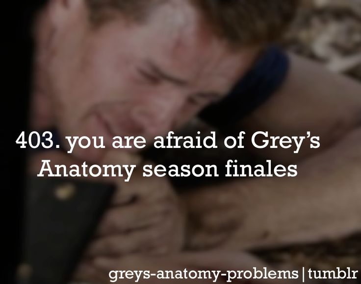 You know you're a greys fan when...