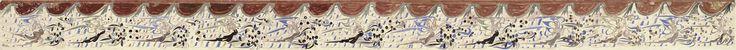 伎樂飛天 莫高窟第285窟 南壁 西魏 此12身伎樂飛天圖,是敦煌飛天壁畫中具代表性的作品。 此壁畫中的伎樂飛天均朝洞窟正壁方向飛翔,當中有十身飛天持不同的樂器奏樂,某程度描繪了西魏時期的樂器。 此窟是魏宗室元榮出任瓜州刺史時倡導開鑿。元榮崇信佛教,當他從洛陽來敦煌時,帶來了一批製作佛像的工匠,他們把當時中原最流行的繪畫形象及表現技法都帶到了敦煌,使中原的佛造像藝術形式在西魏時期傳到了敦煌,削弱了敦煌石窟藝術中的西域風格,強化了中原元素,使西魏時期的壁畫人物出現了「秀骨清像」的形象,其特徵是面貌清瘦、眉目開朗、神情瀟灑、褒衣博帶;於是壁畫中的飛天也出現了這種造型。此畫的飛天即為一例。其形象清瘦,身材修長,細腰長裙,姿態舒展,衣帶臨風飄舉,在天花流雲中歌舞飛翔,富有韻律感,具女性的特徵。