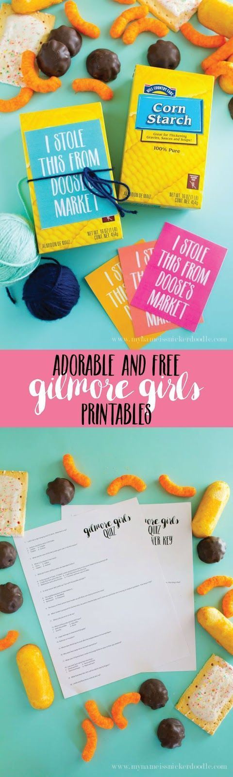 A Gilmore Girls Party for True Fans!  Adorable free printable and quiz!
