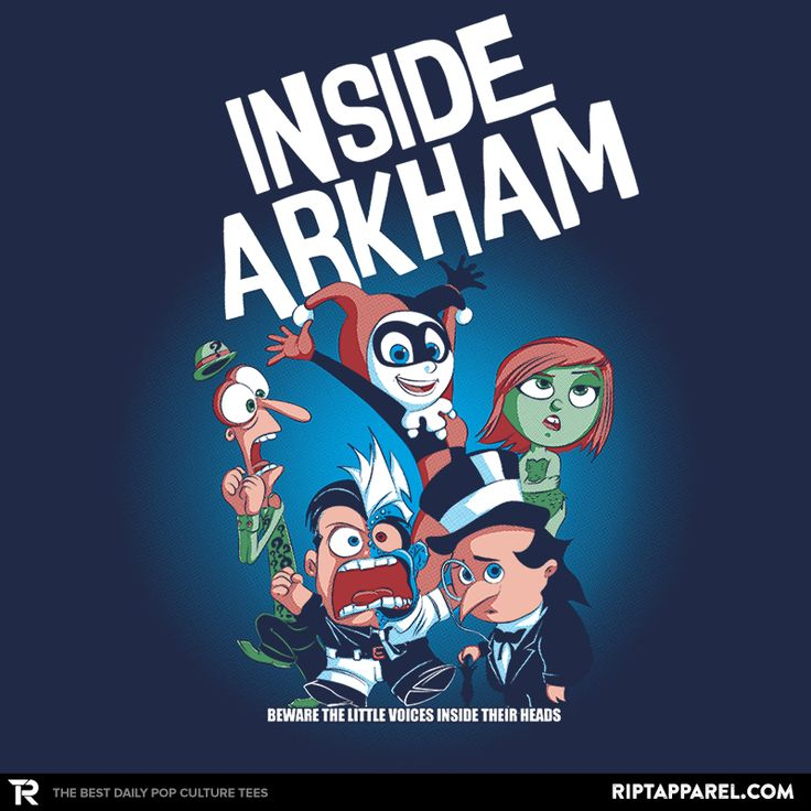 Inside Arkham T-Shirt - Batman Villain T-Shirt is $11 today at Ript!
