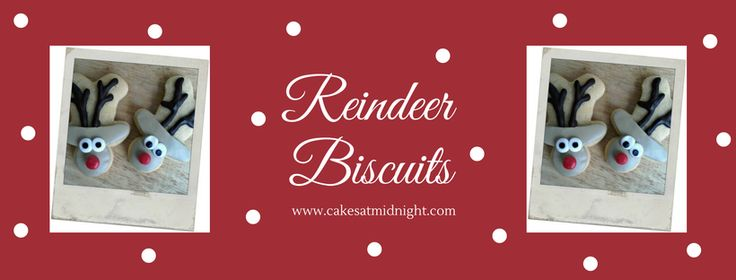 These cute little reindeer biscuits are made with a gingerbread man cookie cutter. You just turn the biscuit upside-down and ice as you please. You can use royal icing, sugar paste or chocolate. Fo…