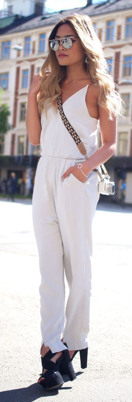 White Jumpsuit Styling