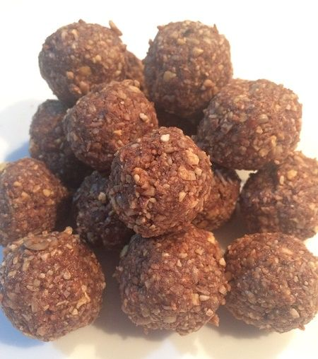 Chocolate and nut bliss balls