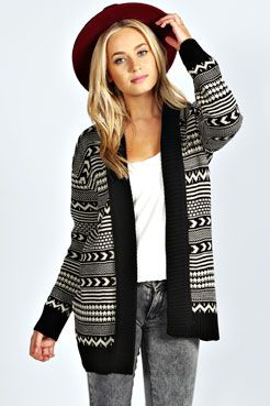 Amerie Open Knit Cardigan at boohoo.com