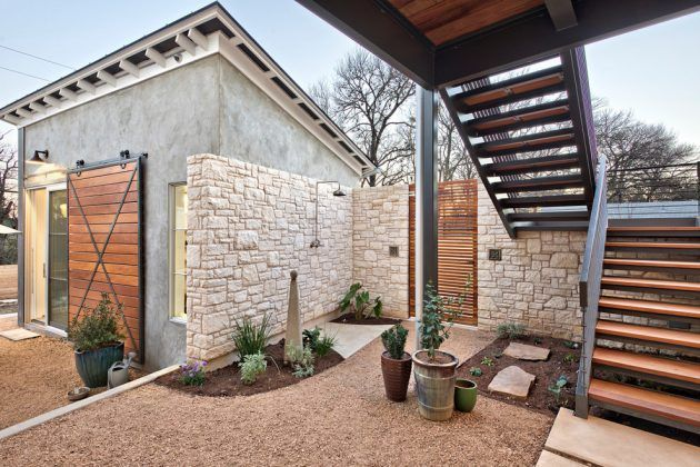 15 Beautiful Transitional Landscape Designs For A Private Backyard Paradise - Stairs - Deck / Patio / Porch - House Exterior
