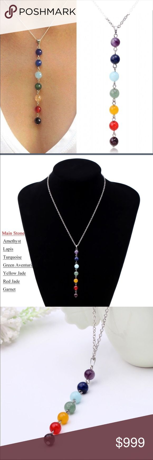 🆕JUST IN- Chakra Necklace Multicolor stones in a chakra necklace. Silver tone chain with adjustable length. Direct from vendor. Jewelry Necklaces