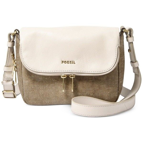 Fossil Preston Small Flap Crossbody ($198) ❤ liked on Polyvore featuring bags, handbags, shoulder bags, metallic, crossbody purse, leather crossbody purse, leather crossbody, pink purse and leather purse