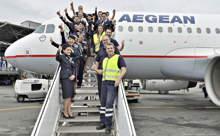 9. Χρόνια πολλά AEGEAN! Ιπτάμενοι – μηχανικοί και εργαζόμενοι της AEGEAN στο σταθμό και την πίστα του αεροδρομίου της πόλης του Βορρά στέλνουν τις ευχές τους!