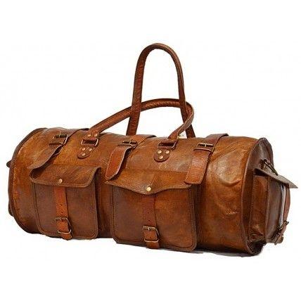#041 'JAIPUR MAXI' ™ Travel Bag Vintage, leather,  XL cherry
