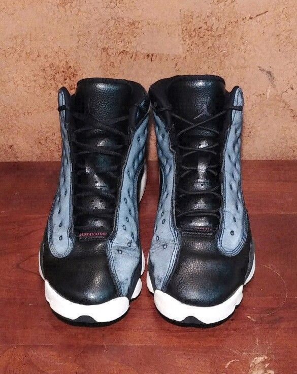 d4ceecd6003e8 Air Jordan Retro 13 XIII Black Anthracite Pink youth 439358-009 Size ...