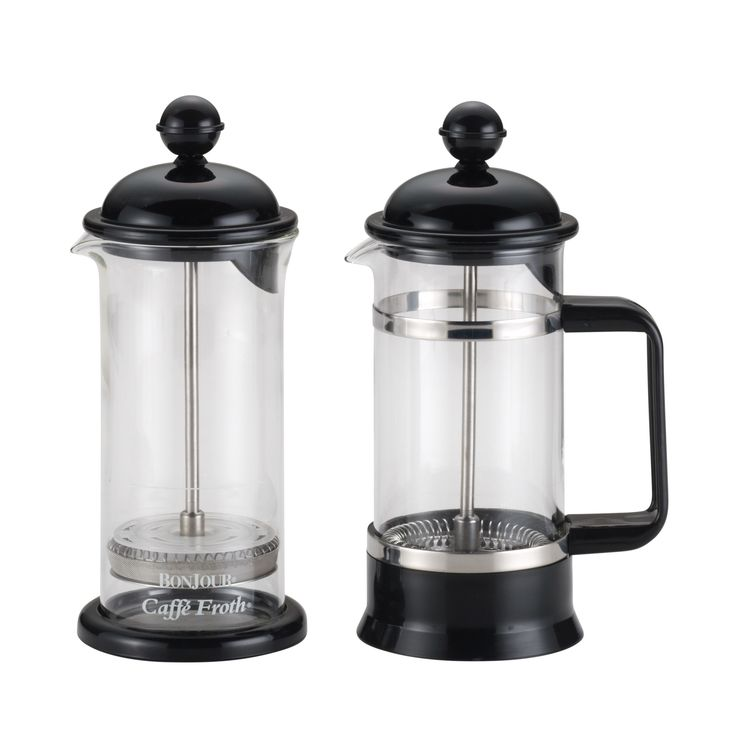 BonJour Coffee 3-Cup La Petite French Press and Milk Frother Set,