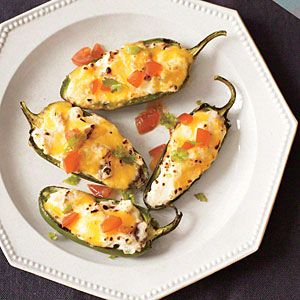 Grilled Stuffed Jalapeños Recipe ~ cooking light ~ appetizers ~ MyRecipes.com Mobile