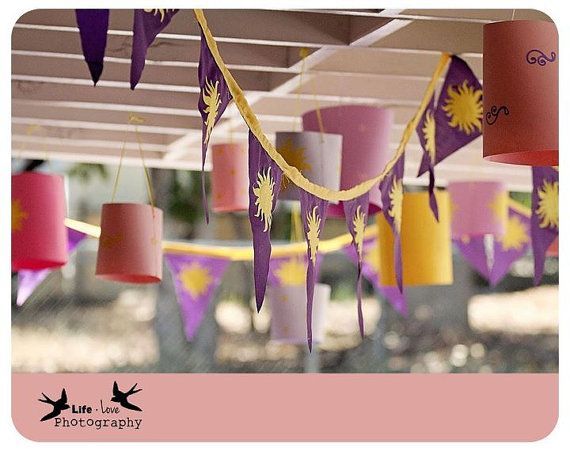 Tangled partyKids Parties, Paper Lanterns, Birthday Parties, Parties Rapunzel, Parties Ideas3, Rapunzel Parties, Parties Pack, Birthday Ideas, Tangled Parties