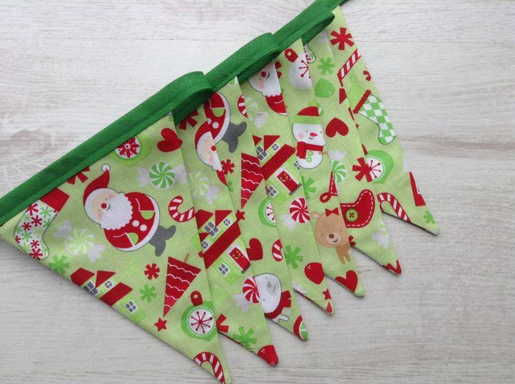 Christmas Bunting - Seasonal Decor - Holiday Season - Holiday Decor - Santa - Candy Cane - Christmas Stocking - Tree - pinned by pin4etsy.com