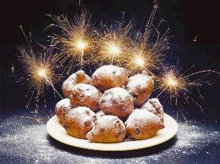 Traditional snack for New Year's Eve: oliebollen