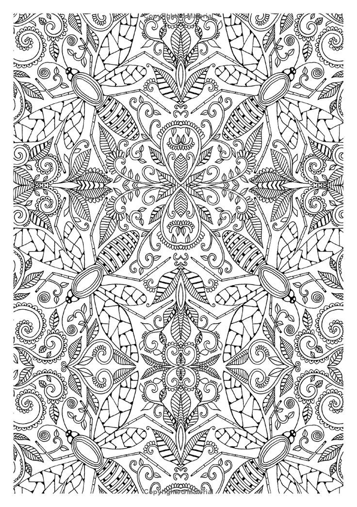 Adult Coloring Pages Books Color Tile Doodle Repeat Zentangle Tiles Colouring In