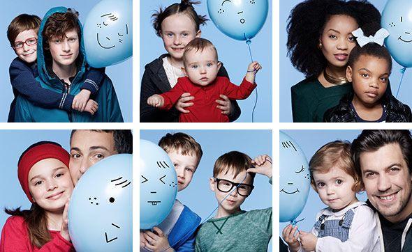 Deel een blauwe ballon voor kinderen met atopische dermatitis